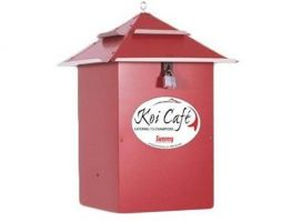 Koi Cafe Rood voerautomaat